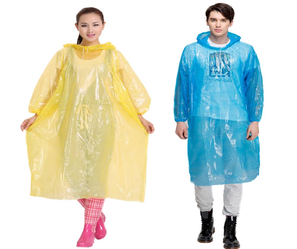 Quần áo mưa Nilon dùng 1 lần