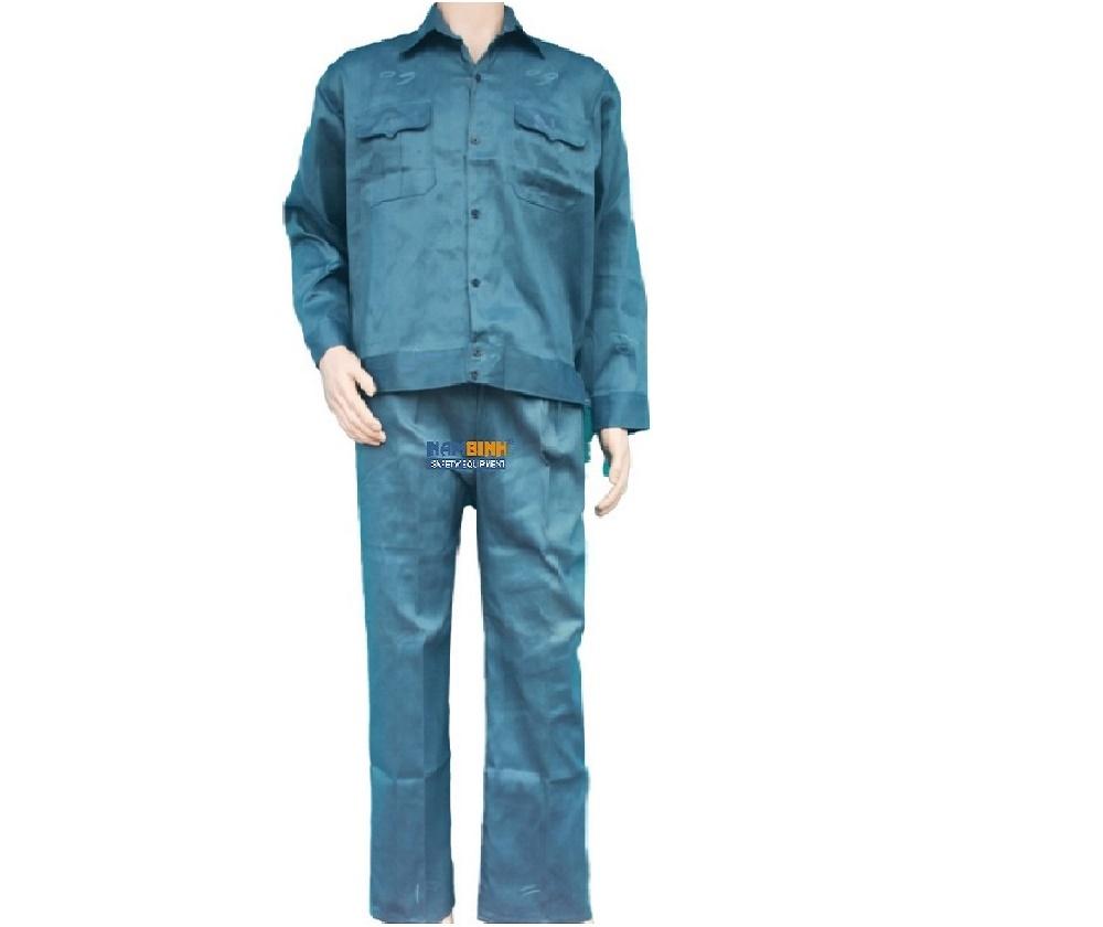 Quần áo Kaki Nam Định may sẵn - Mầu xanh Kếp